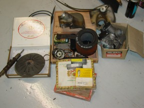 Clutch parts, and cam and plugs and airboxes.......