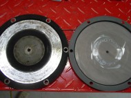old and new pressure plate face