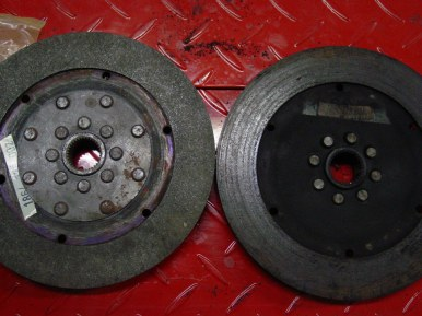 Note the new clutch plate has 2x the rivets