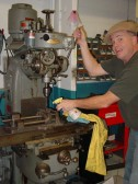 Todd keeping his Tool Cool! milling the flywheel puller adapter(tm)