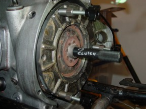 The Clutch has to be kept centered as the spring is slowly compressed