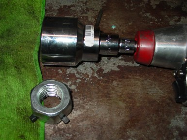 The 1 5/16 inch socket needed for the 4 slot ring removal tool